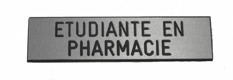 badge étudiante en pharmacie