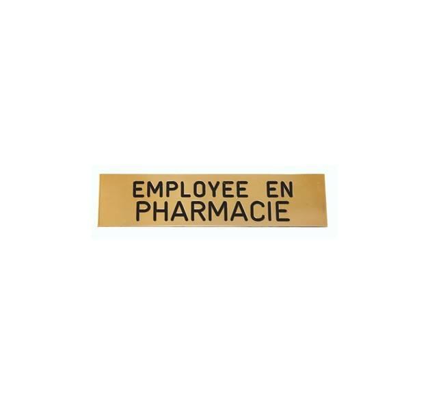 Badge employ�e en pharmacie