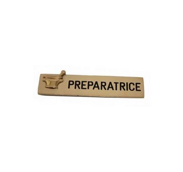 Souvent Badge préparatrice plaqué or - NILD OR LW49
