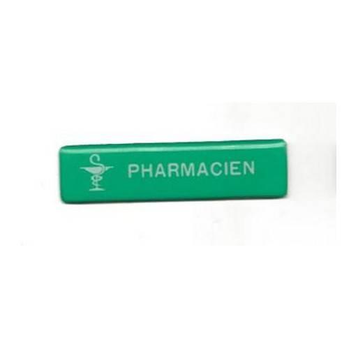 badge pharmacien aimant� pas cher vert