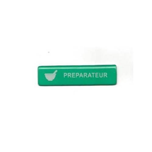 badge pr�parateur pas cher vert aimant�