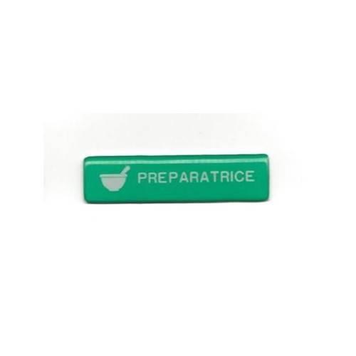 badge pr�paratrice pas cher vert aimant�