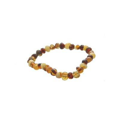 Bracelet Ambre Adulte baroque multicolore