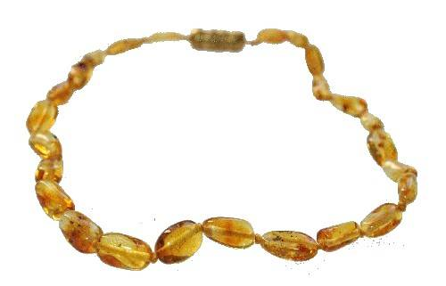 Collier ambre bébé olivettes