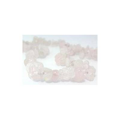 Collier en vrai quartz rose � Paris