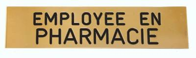 Badge employée en pharmacie pas cher