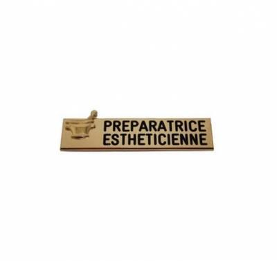 badge préparatrice esthéticienne