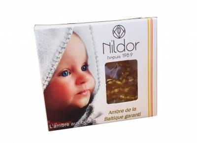 Collier en ambre pour bébé norme sécurité