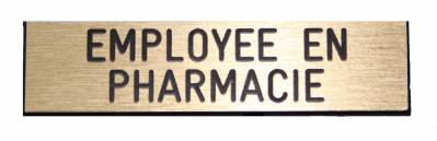badge employée en pharmacie broche