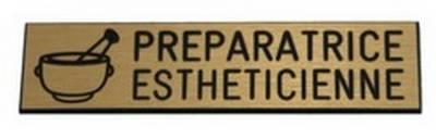 badge préparatrice esthéticienne pas cher